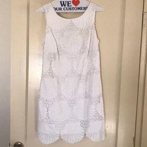 White Lilly Pulitzer Shell Dress